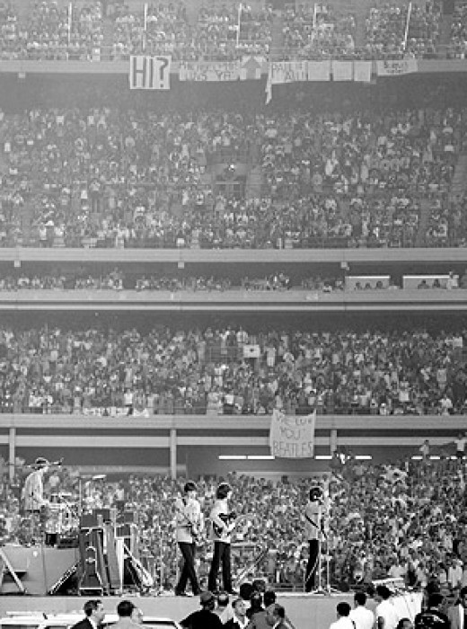 The Beatles at Shea Stadium 1965
