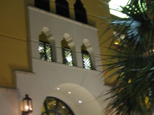 windows above main entrance