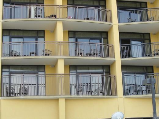 Balconeys overlooking Pool Deck