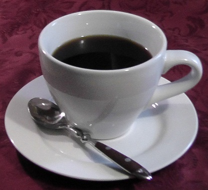 Coffee has caffeine and helps you feel more motivated and less stressed.