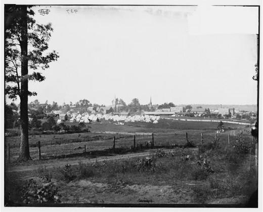 Union encampment on the edge of Culpeper, Virginia
