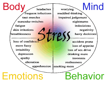 The symptoms of stress