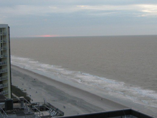 Sunrise over the Ocean