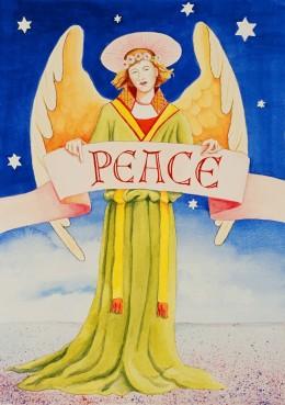 Our Christmas Card 2006,  Original Watercolor