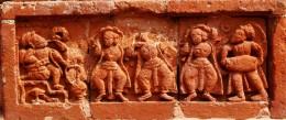 Landlord watching Gaudya Nrittya by a group of dancers; Guptipara