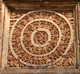 Rasmandal with triple ring; Shyam Ray temple, Vishnupur