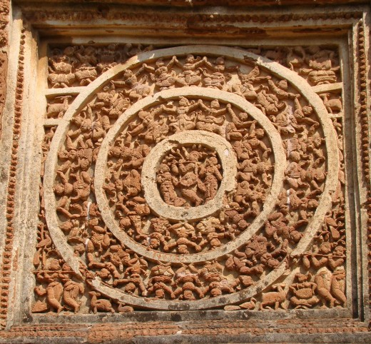 Rasmandal with triple ring; Shyam Ray temple, Vishnupur