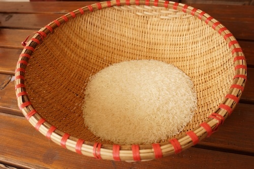 rá gạo  - bamboo colander for vo đãi gạo
