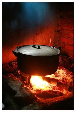 We used to cook on wood fire, especially, at my grands' place. In fact, they still keep and use it in parallel to the gas stove.