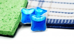 DISHWASHING by Phinizrl  Arrangement of brightly colored new dish washing supplies