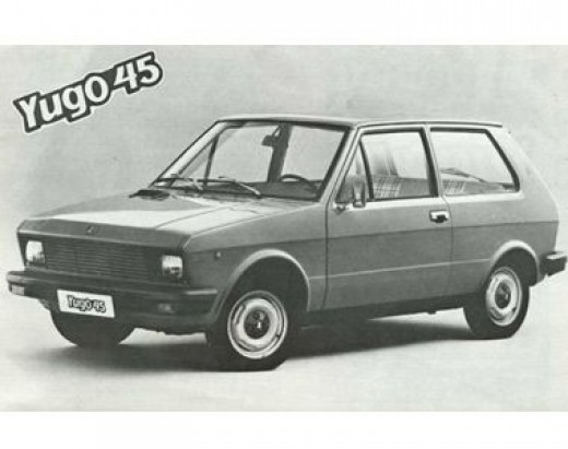 One of the first pictures taken of Yugo 45