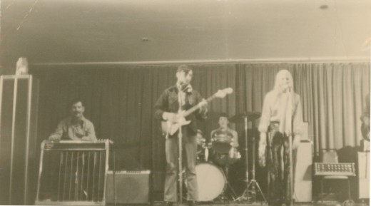 Dad playing steel guitar in one of his bands.