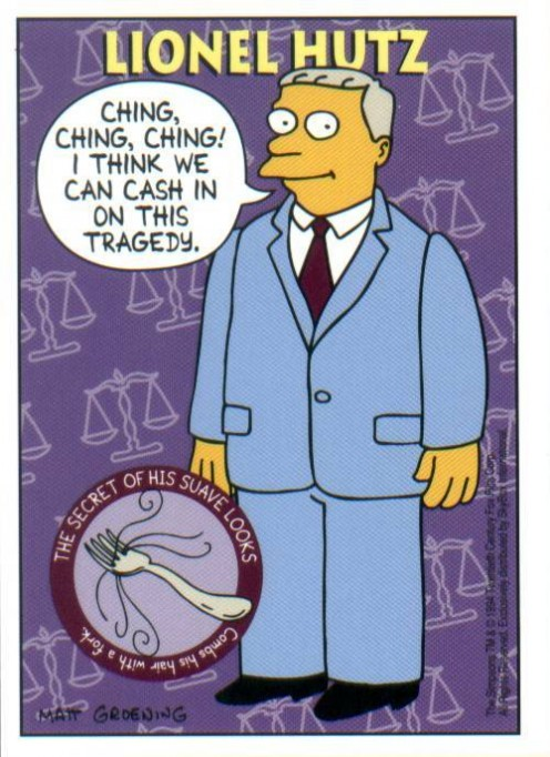 Lawyer Lionel Hutz from The Simpsons