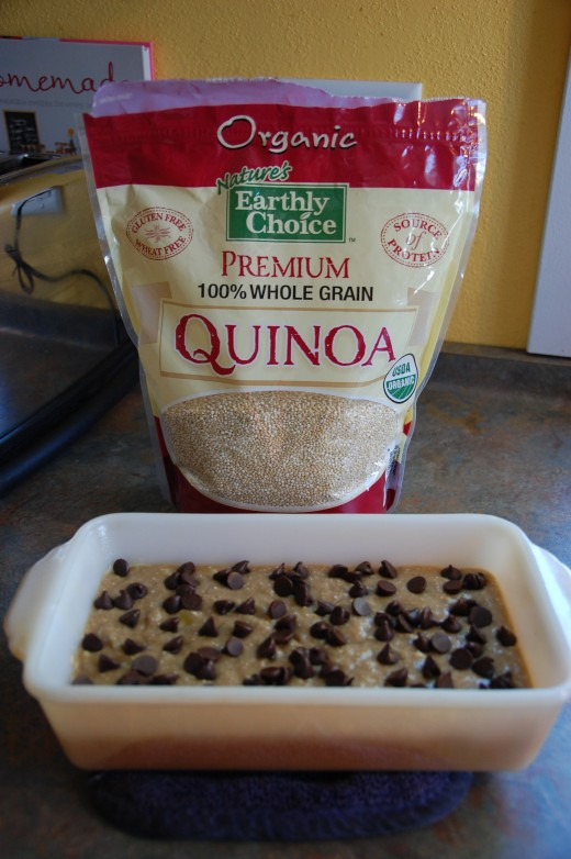 substitute ground quinoa for 1/2 Cup of the flour