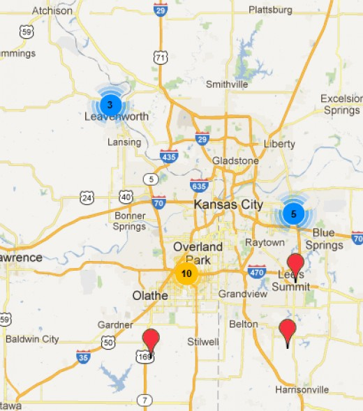 MUFON sighting reports in the Kansas City, MO area for the 30 day period from 5/15-6/13.