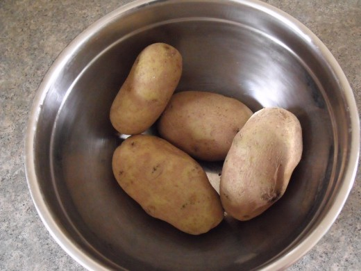 Boiled potatoes are the main ingredient.