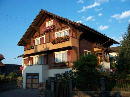 The house where I grew up in Switzerland.