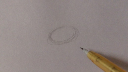 Draw a basic oval as a guiding shape for the head.