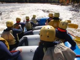 First Time at Ottawa River Rapids - White Water Rafting Ontario