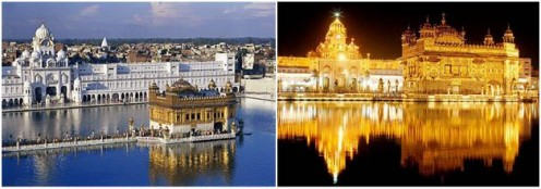 Golden Temple during d day n during night