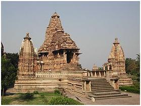 Lakshmana temple at Khajuraho,a panchayatana temple.