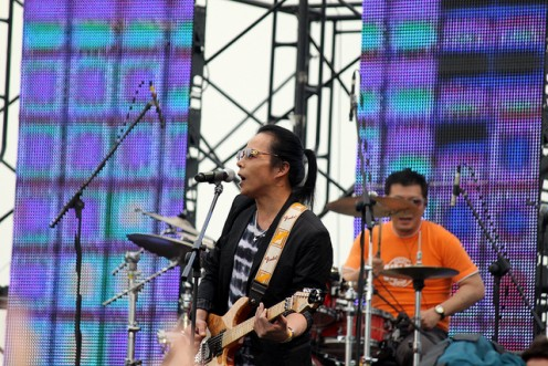 Kim Taewon performing at the Green Plugged Festival
