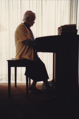 I knew this old lady for fifty-two years.  At eight-eight she could still play like a concert pianist.  She was my mother