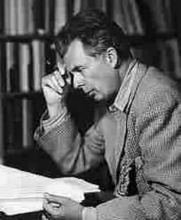 Huxley in pensive mood