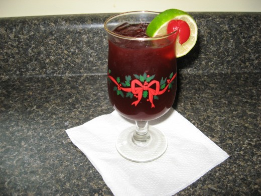 This makes a good Christmas party punch, too.