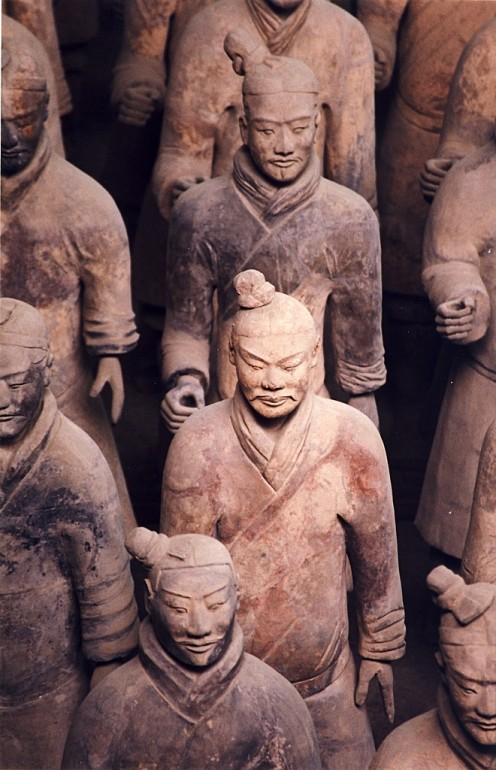 Terracota Warriors in the Mausoleum of the First Qin Emperor