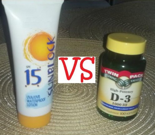 Which is the lesser of two evils, protection from the Sun's ultraviolet rays, OR having enough Vitamin D in your system?