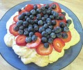Pavlova Recipe. A Healthy Dessert Filled With Greek Yogurt and Fruit
