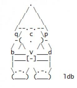 Garden Gnomes in ASCII Text Art