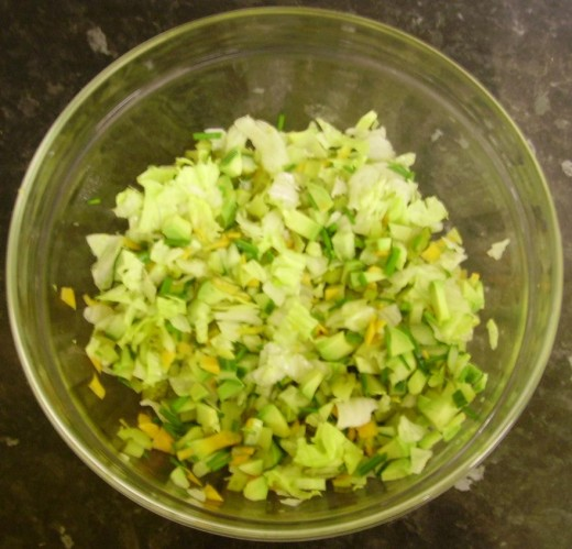 Chopped and mixed fruit and veg