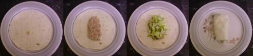 Preparing your tuna and avocado wraps