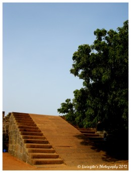 Steps that lead to the top of the Fort