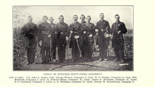 Some of the officers of the 63rd Regiment