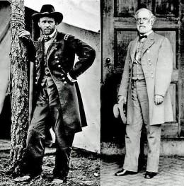 Ulysses S. Grant and Robert E. Lee