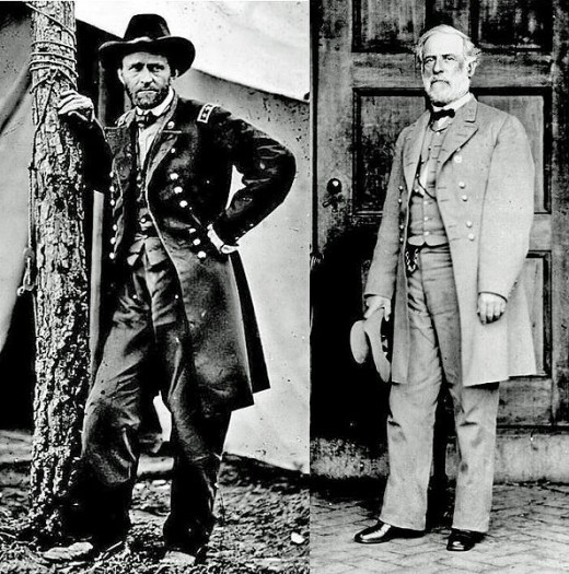 Ulysses S. Grant and Robert E. Lee