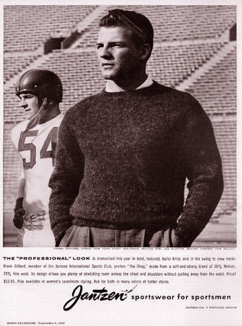"""FRANK GIFFORD """"Nice run by number 10."""""""