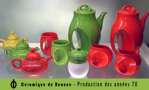 Tableware from the 1970s