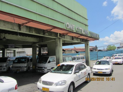 Cabs waiting outside the Southern Bus Terminal or One Citilink Terminal