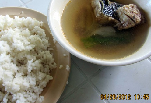 'Tinolang Isda' or Soup-Based Fish - the meal served at the South Bus Terminal. Tinola is normally served with chicken in most parts of the Philippines