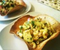 Cheap Healthy Recipe for Two - Tuna Pasta Salad in Homemade Tortilla Bowls