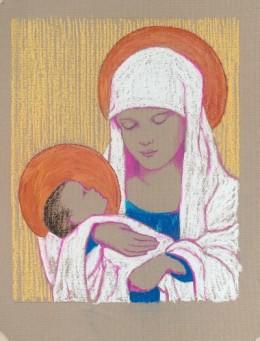 "Our Christmas Card, 2009, Pastel, Original Dimensions 20 x 16"""