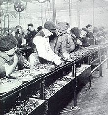The type of assembly line that was introduced to Canada in the early 20th century