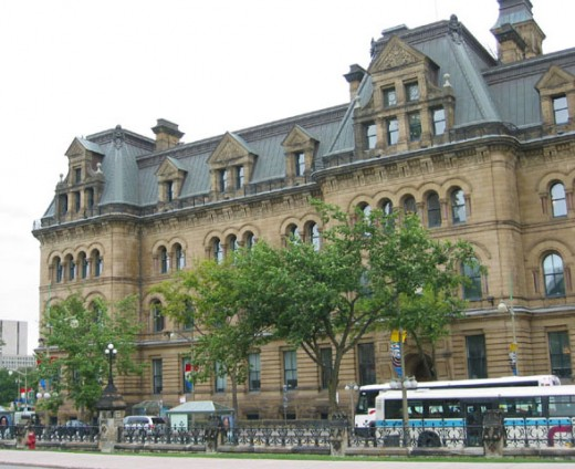 The building of the Queen's Privy Council for Canada, as well as the Prime Minister's Office