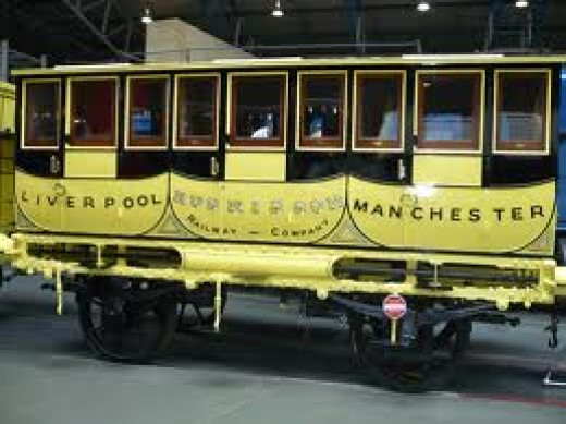Liverpool & Manchester Railway 1st/2nd in its distinctive canary yellow livery