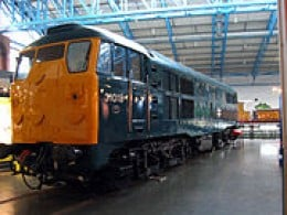 Class 31 diesel seen here in British Rail blue and dove grey began life in the 60's in British Railways two-tone green