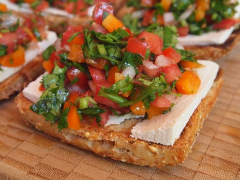 2 in 1 Salad / Tofu Bruschetta Recipe